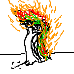 Burning Tree with mullet