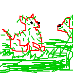 Grassy Red Dogs